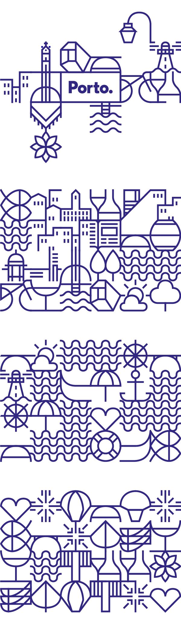 I'm such a sucker for this whole pattern recombination thing. White Studio nailed it for the city of Porto.
