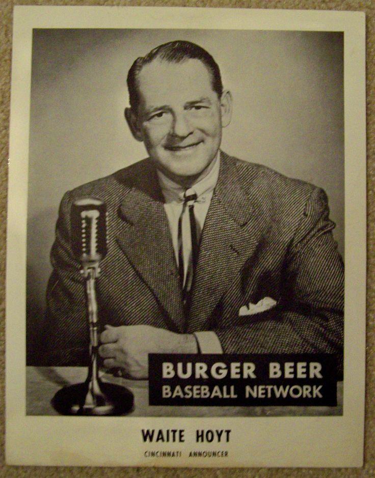 1950s WAITE HOYT CINCINNATI REDS Burger Beer premium photo… | Flickr