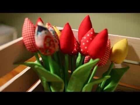 #owoceszycia Szycie #1 Tulipany z materiału   Fabric tulips handmade. film about sewing tulips; fabric tulips; hand made flowers, home craft