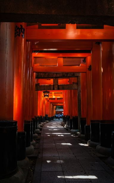 Torii gates at Fushimi Inari shrine, Kyoto, Japan