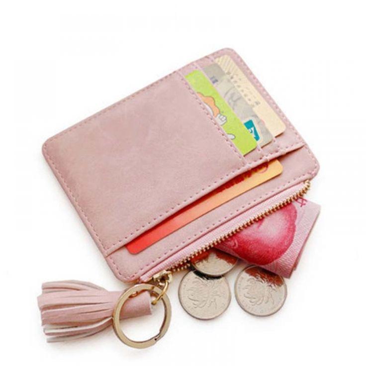 Leather Vintage Credit Card Slim Mini Wallet for Women