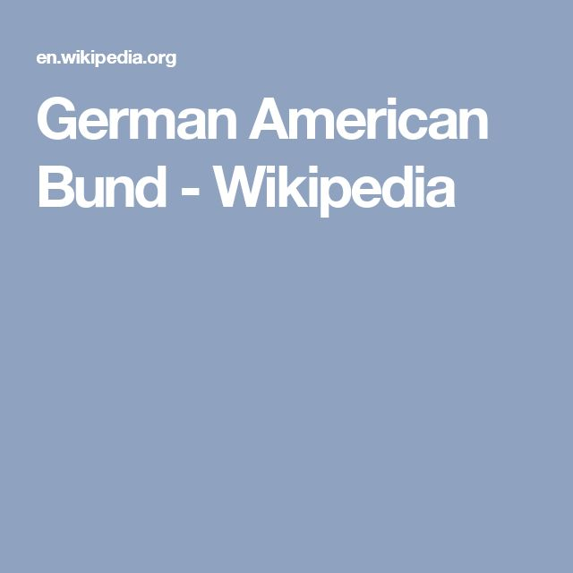 German American Bund - Wikipedia