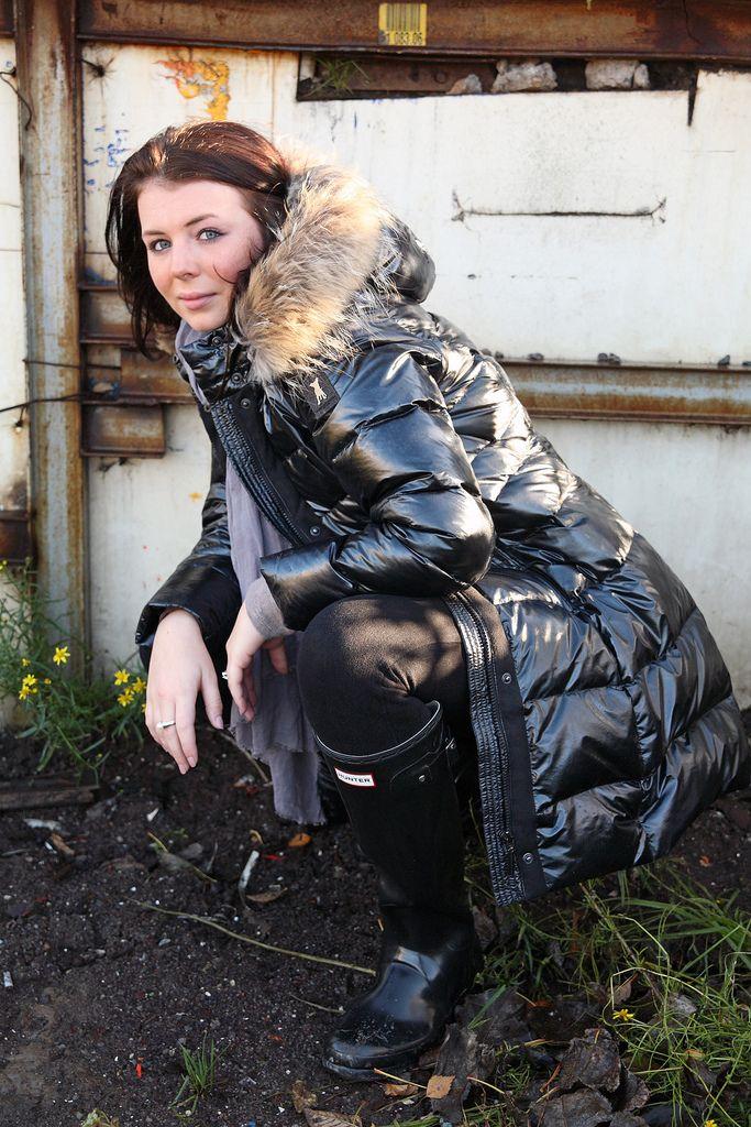 Coat Flickr Long Leather Shiny