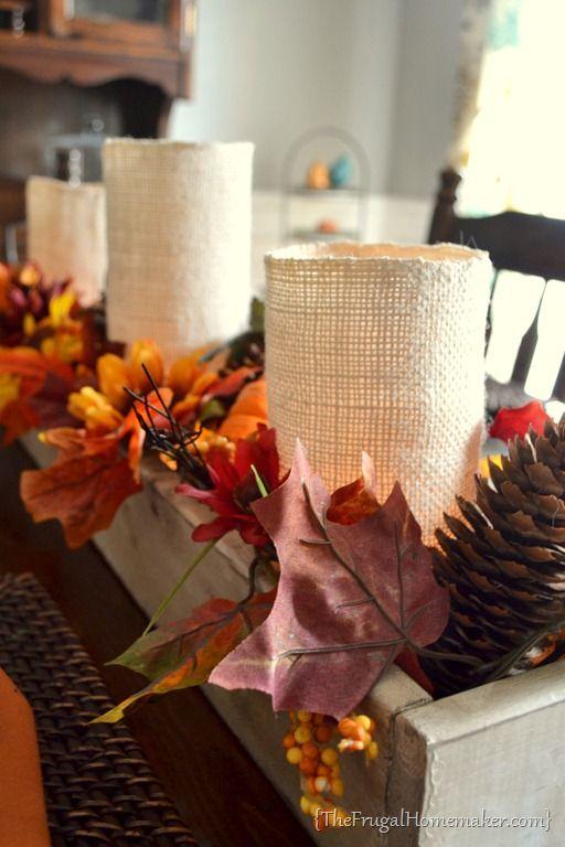 Diy wood centerpiece box fall decorating pinterest