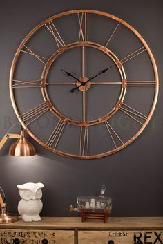 copper wall clock - Google Search