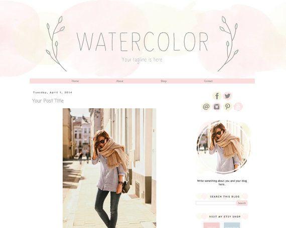 48 best Watercolor photoshop images on Pinterest | Shop logo ...