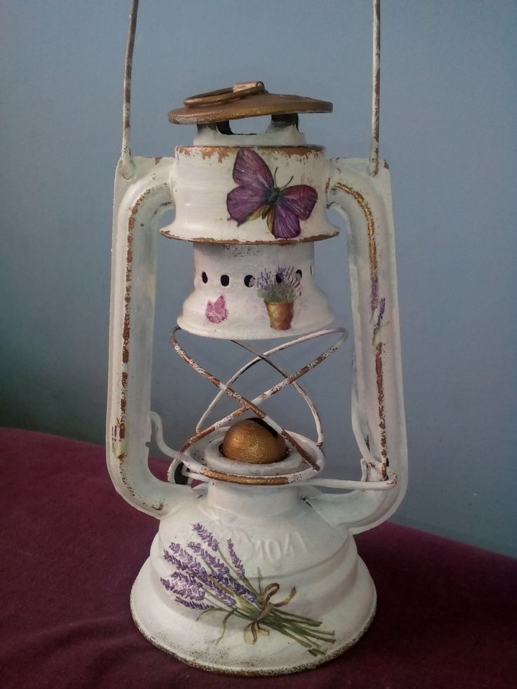 lamp with decoupage