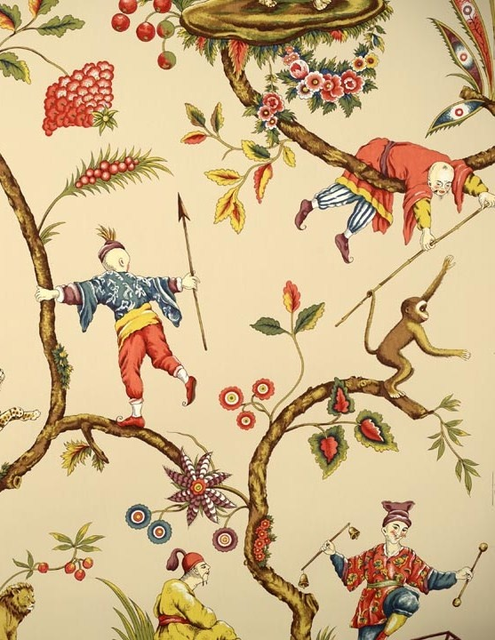 Scalamandre CHINOISE EXOTIQUE fabric & wallpaper