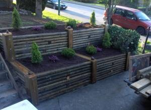 idea for backyard raised flower beds to develop over time for privacy