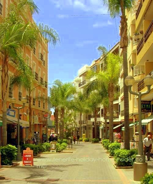 Puerto de la Cruz of Tenerife Spain, street Calle La Hoya where many privately owned apartments are used as holiday homes.