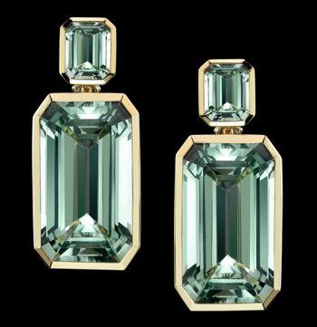 Angenlina Jolie & jewelry designer Robert Procop collaboration - Green Beryl earrings