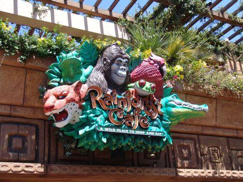Rainforest Cafe Disneyland Gluten Free