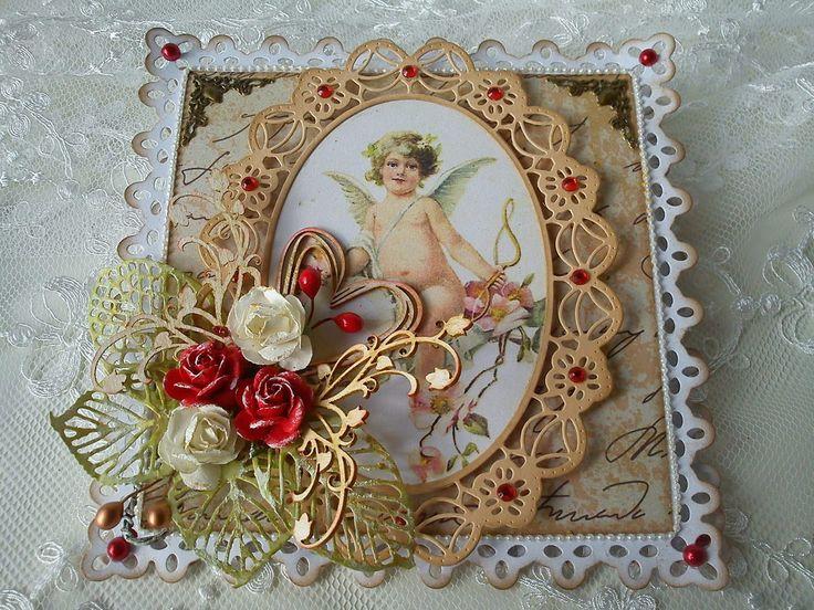 Carte chevalet pour la Saint Valentin par Athéna + info bourse aux Loisirs Créatifs
