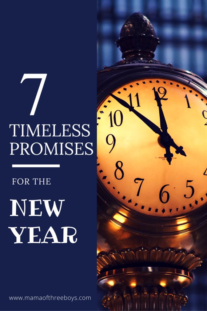 timeless promises for new year