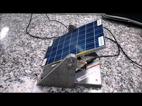 Un Seguidor Solar Simple que Tiene Ejes Duales - YouTube