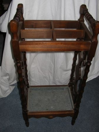 antique umbrella stand with drip pan the bottom. Black Bedroom Furniture Sets. Home Design Ideas