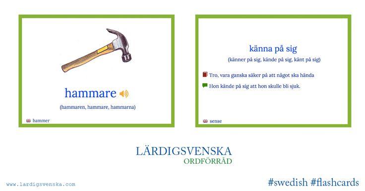 Lär dig svenska har gjort flashcards till drygt 8400 svenska ord. Ordnade enligt det Europeiska systemet A1, A2 osv. Lite svårt för stv 1 men ska visa eleverna ändå.