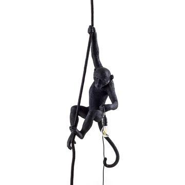 Seletti Monkey Lamp Ceiling-Black