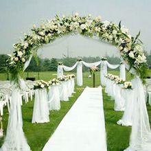 1000cm * 75cm fehér Roll Soft Sheer DIY organza anyag Esküvői szék szárny Íjak Swag party dekoráció (Kína (szárazföld))