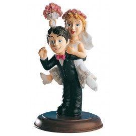 Figura de pastel Novios Happy. #detalles #boda #tarta www.jardindedetallesyeventos.com