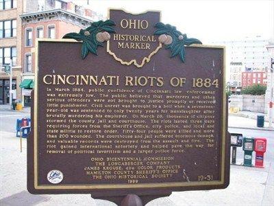 Cincinnati Riots of 1884 / Sheriff Morton Lytle Hawkins #19-31 ...