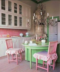 American Girl Doll Kitchen | ... Green + White Kitchen! American Girl  Dollhouse