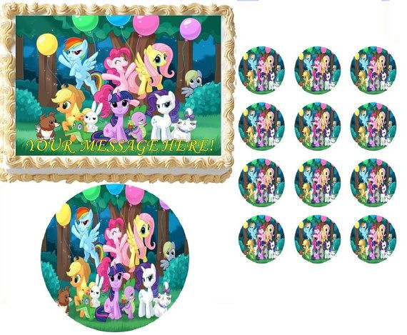 15 best My Little Pony images on Pinterest Birthday cakes