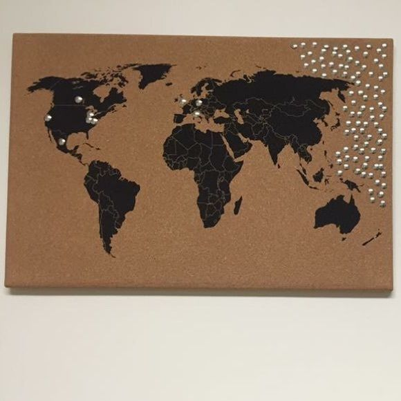 World Map Cork Board Mark the places you've visited! Earthbound Trading Co. Other
