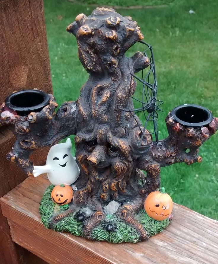 HTF Yankee Candle Halloween DREADFUL DRIP TREE Candle Holder #YankeeCandle