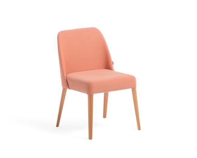 Cadeira Rosini - Laranja - Base Trigo