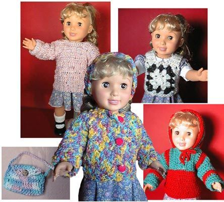 Knit And Crochet Patterns For 18 Inch Dolls : 1293 best Crochet Doll Clothes images on Pinterest Crochet doll clothes, Cr...
