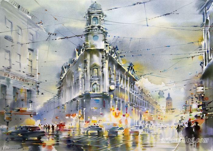 Городские пейзажи Ольги Литвиненко