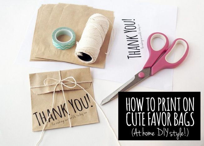 How to Print on Paper Bags DIY 1