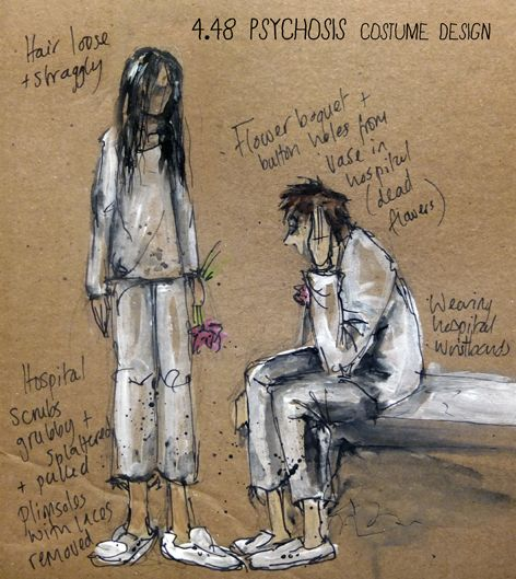 Sarah Lewis - Theatre Designer and Maker: 4.48 Psychosis set and costume design - Nottingham Playhouse Young Company