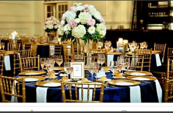 Elevated arrangements of hydrangea, garden roses, and dahlias for Jen & Chris at Cescaphe Ballroom.