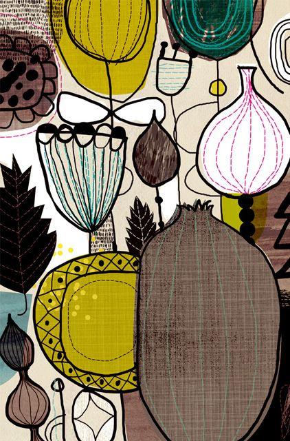 fresh flowers: Floral Patterns, Art Design, Color Pallets, Fresh Flower, Seeds Pods, Dante Terzigni, Flower Seeds, Flower Patterns, Surface Design