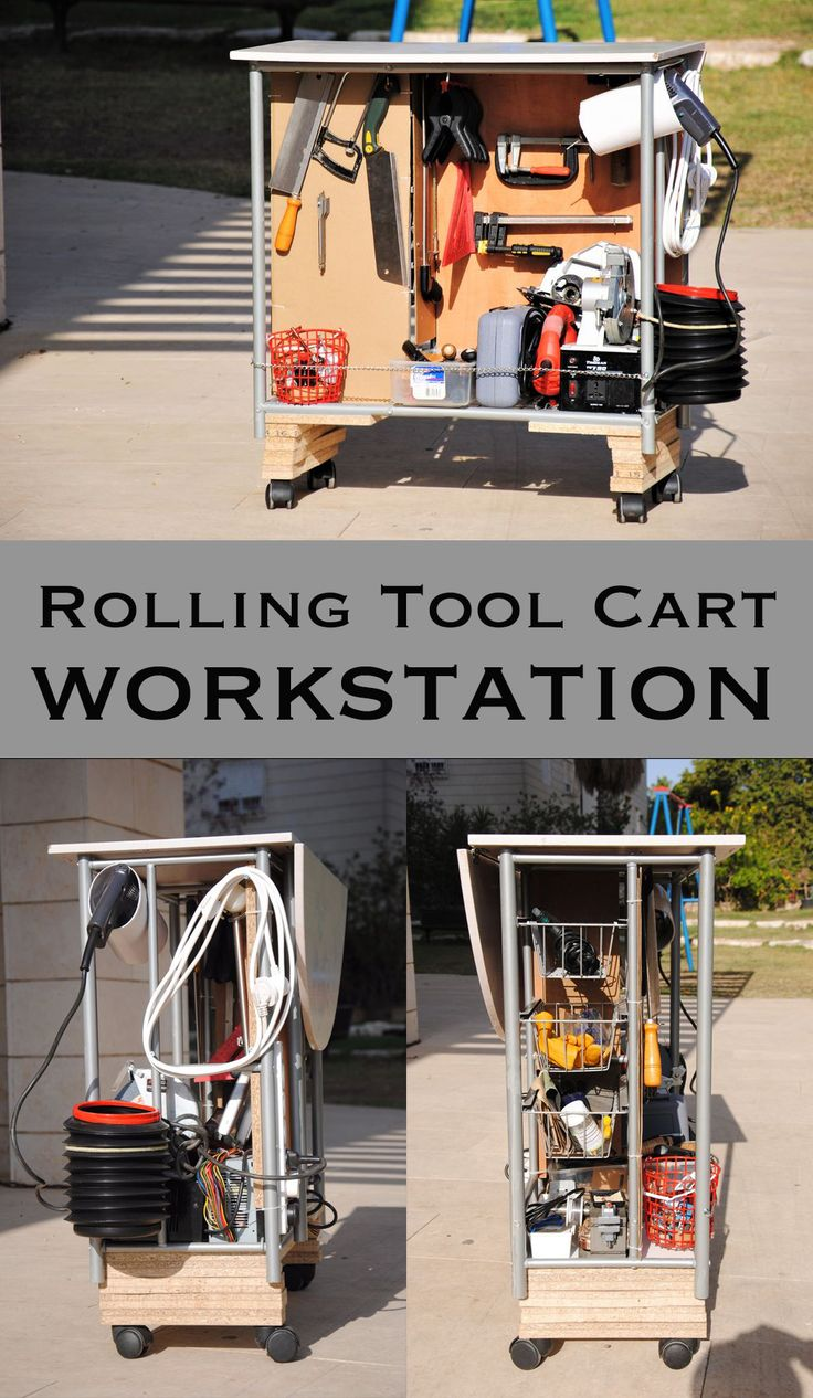 rolling tool cart workstation with tons of storage