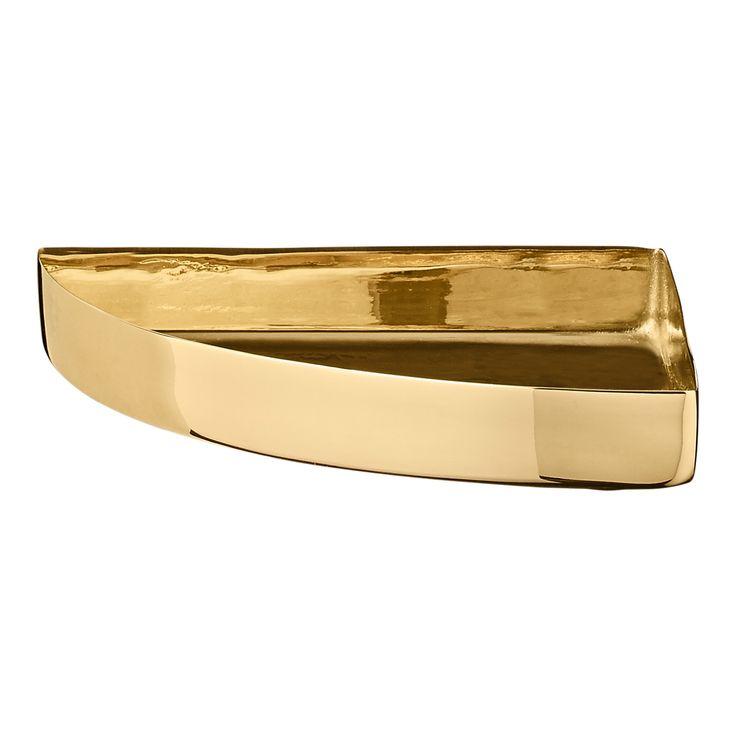 UNITY - Quarter circle tray - small - Brass