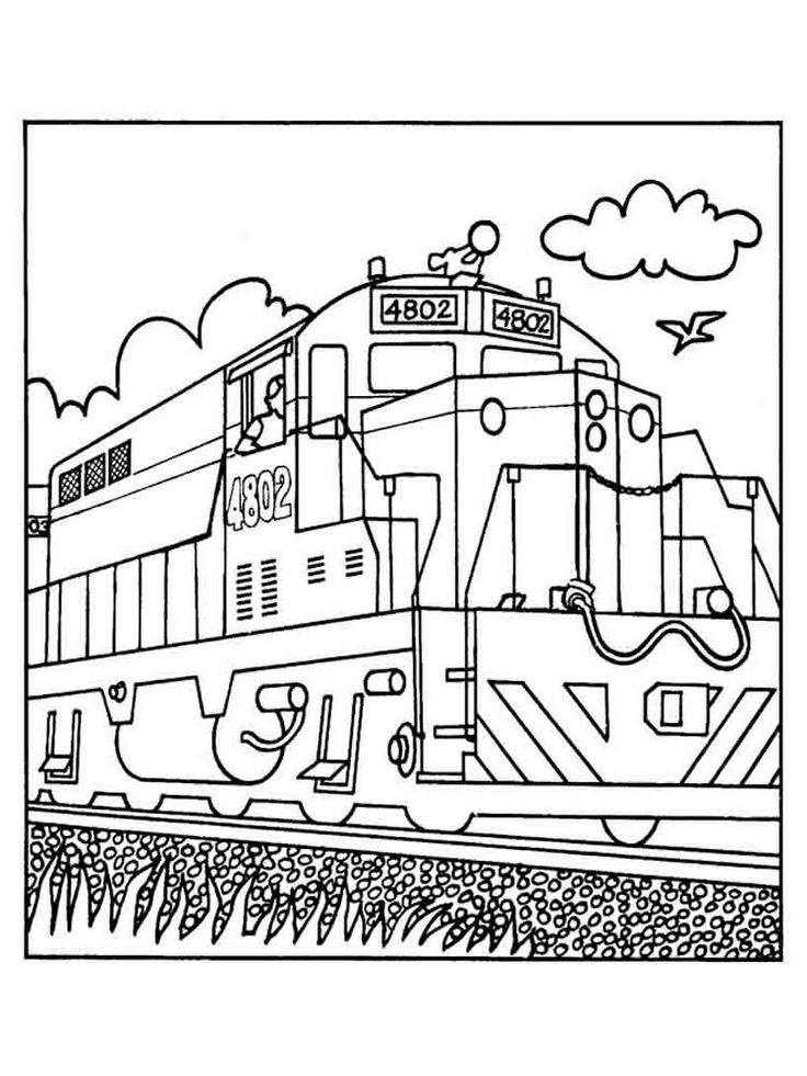 Trains And Railroads Coloring Pages
