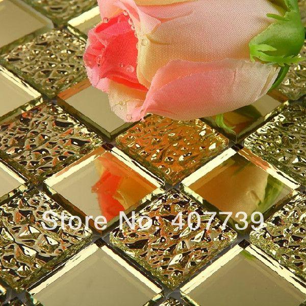 51 fantastiche immagini su mosaici a specchio su pinterest - Mosaico vetro bagno ...