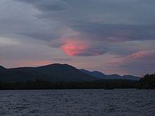 Lenticular Cloud over Squam Lake, New Hampshire