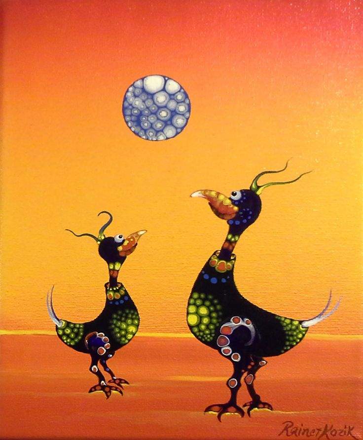 MAGICK CHICKENS original artwork by Rainer H. Kozik www.kozikart.com