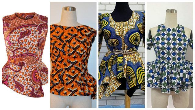Beautiful Ankara Peplum Top Designs Perfect for Fashionable from Weekend | Maboplus