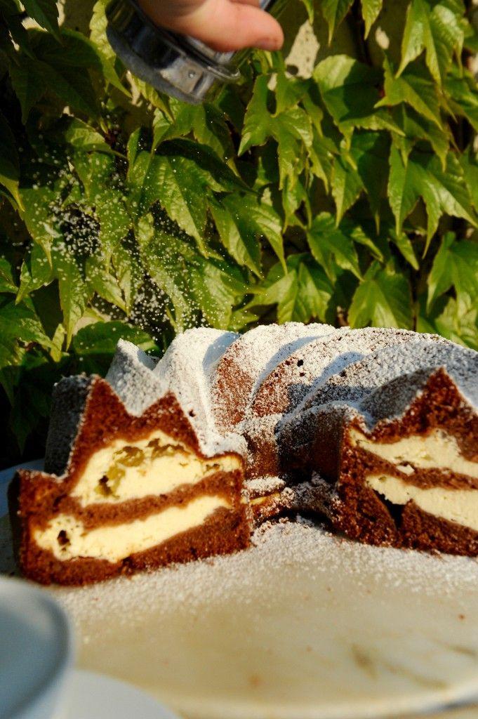 Kakaovo - tvarohová bábovka