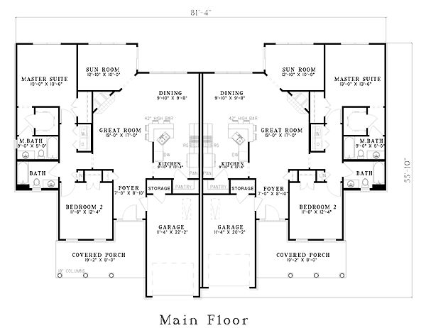 24 Best Images About Duplex House Plan On Pinterest