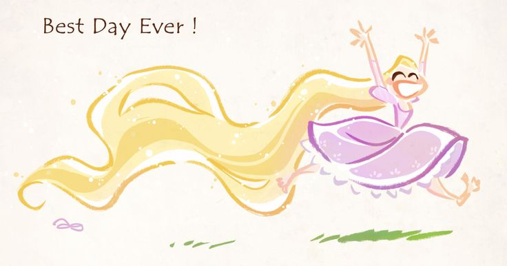 Best Day Ever! (Rapunzel and I are soulmates. I say that all the time!)