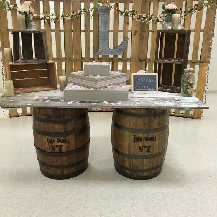 Rustic Cake Table ❤️ Jack Daniels Barrel Table❤️ Old Door Table ❤️