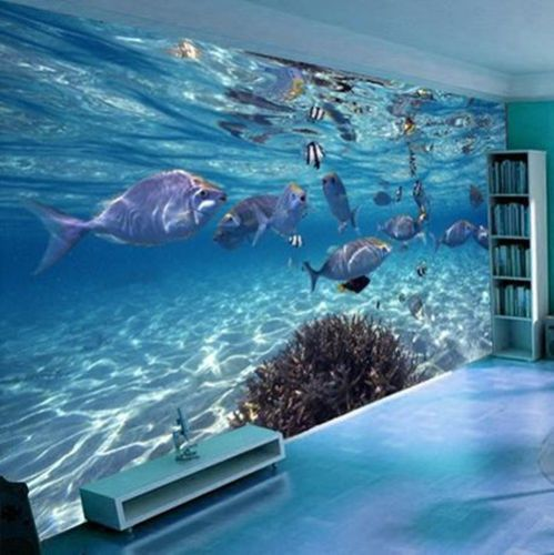 3D Ocean World  Modern  Wallpaper