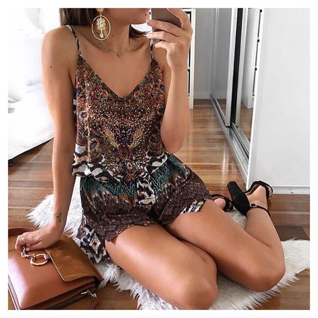 Shop our gorgeous INCA PLAYSUIT, $69 | as seen on babe @stylemealexxandra ✖ Shop now - www.thefoxandi.com.au #thefoxandi #afterpayisavailable
