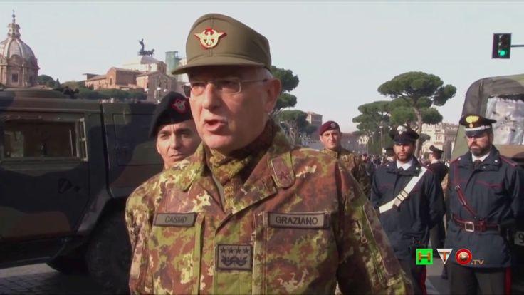 Saluti del Gen. Claudio Graziano ai Militari dell'Operazione Strade Sicu...